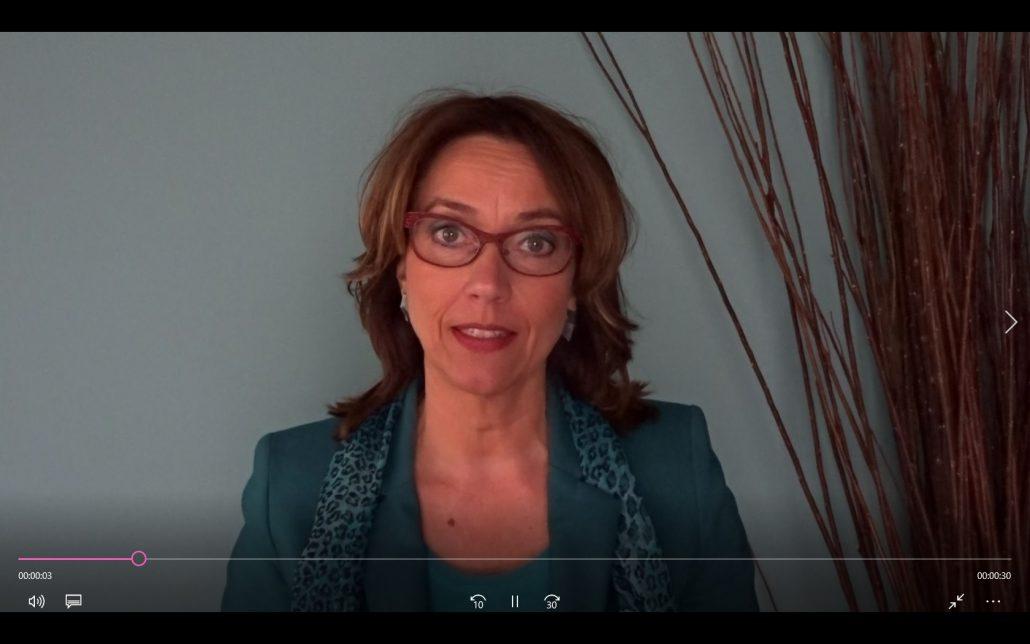 filmpje van Anette de Jong, die uitnodigt om een afspraak te maken